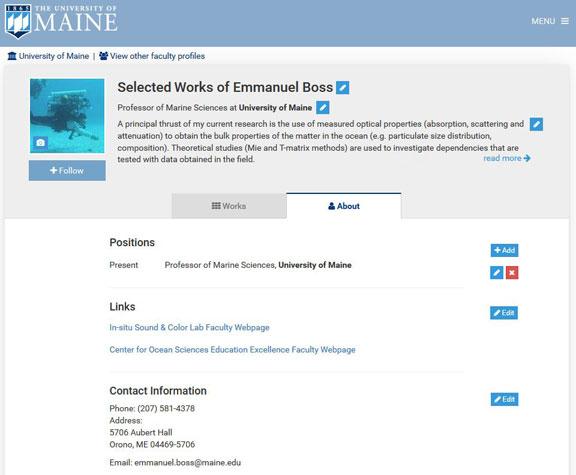 Emmanuel Boss About page