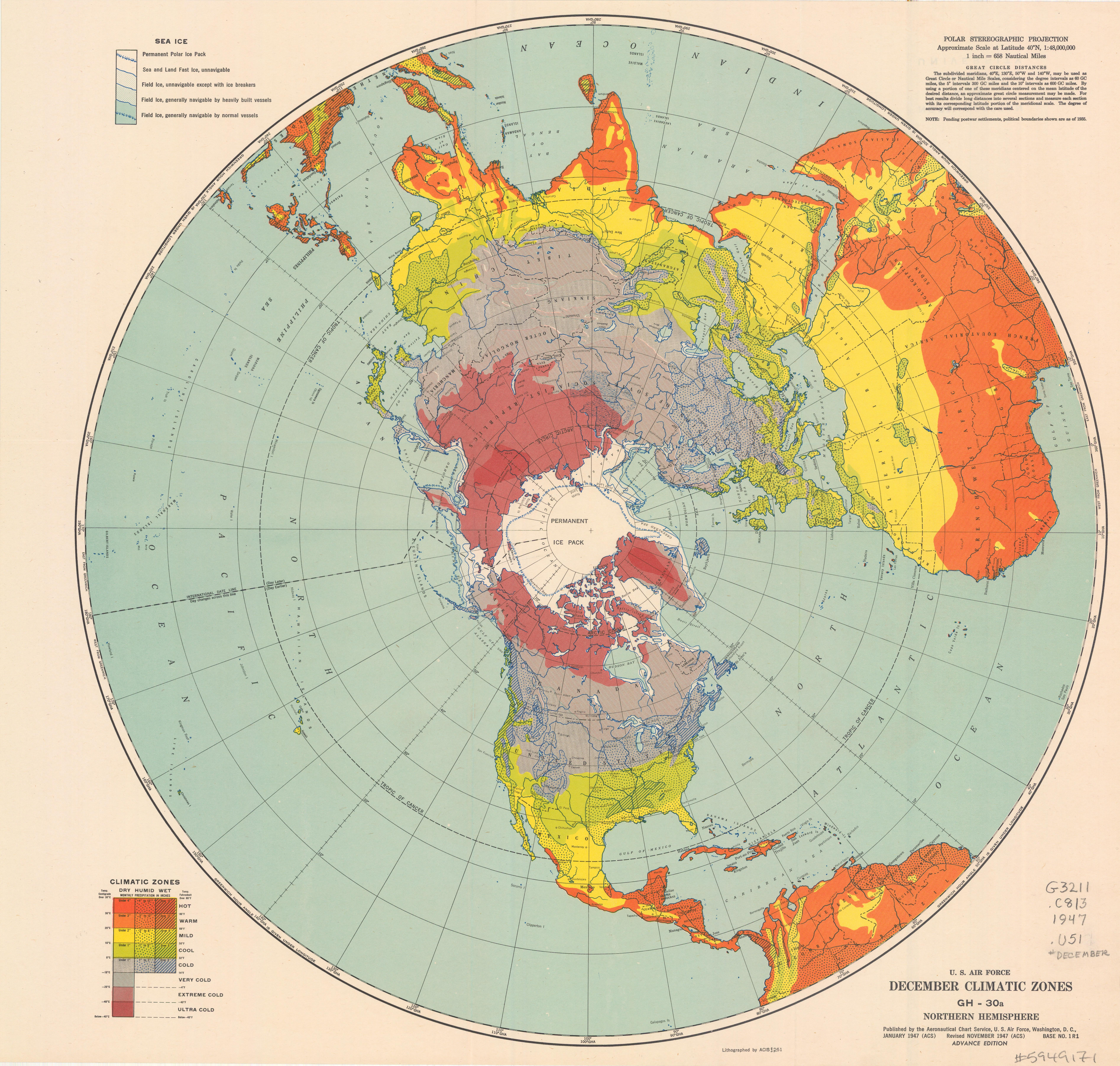 Northern hemisphere map northern hemisphere public domain maps map of the month archive map large format document scanning sciox Gallery