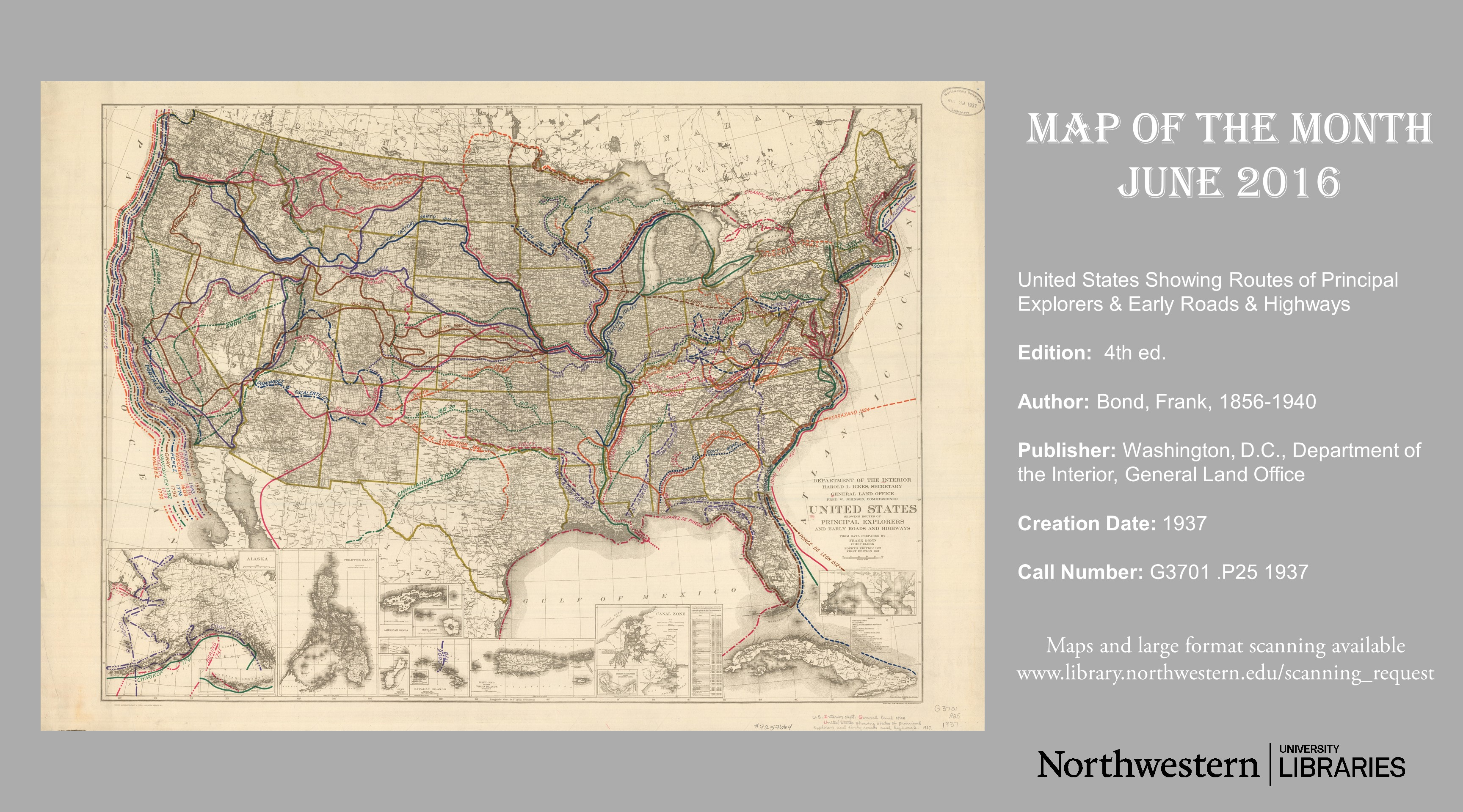 Map Of The Month Archive Map Large Format Document Scanning - Northwestern us map
