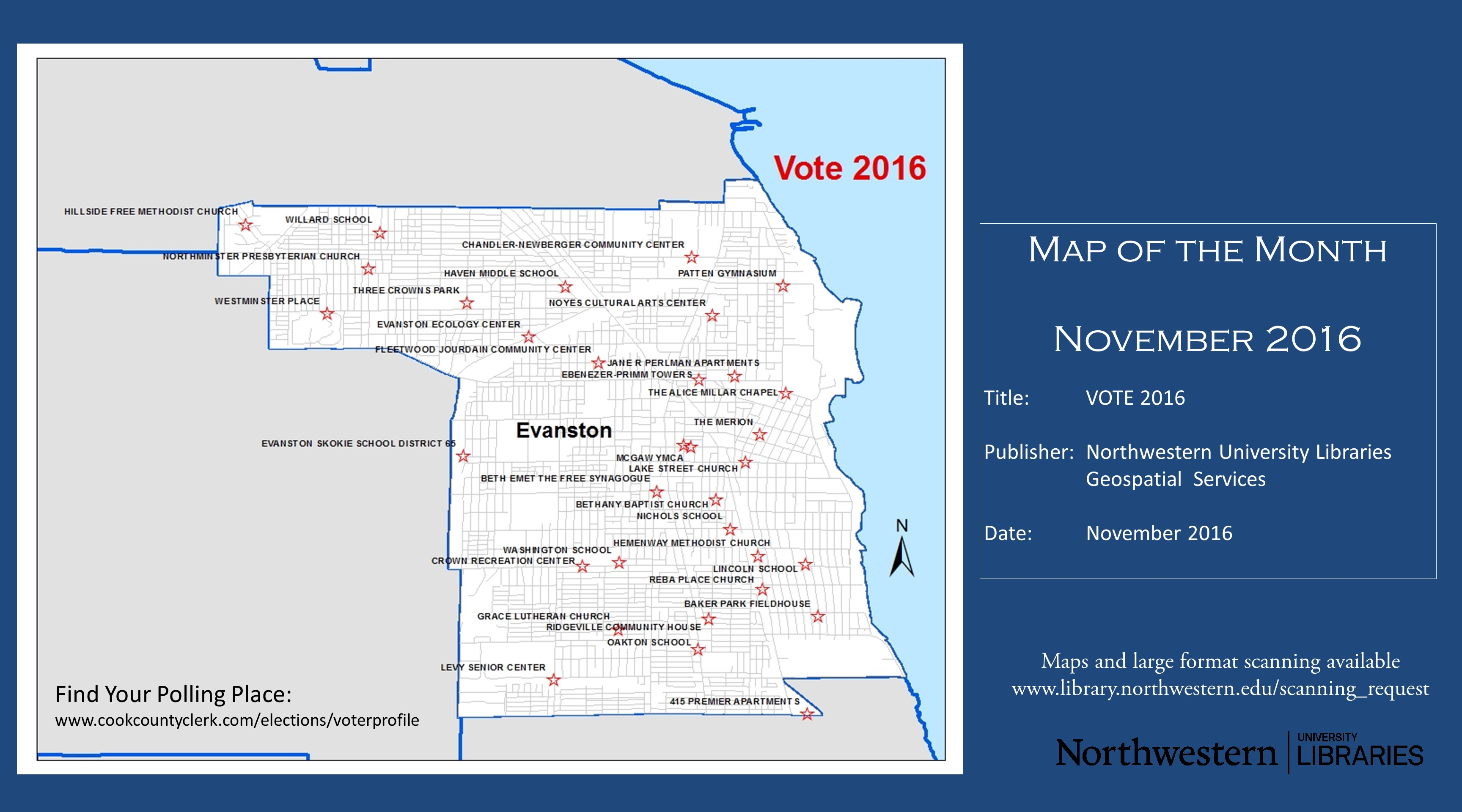 Find Your Evanston Illinois Polling Place November 2016