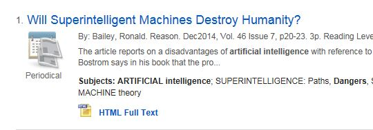 will superintellligent machines destroy humanity record