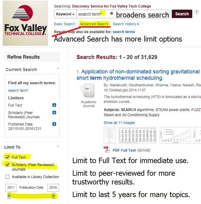 Basic Search vs  Advanced Search - Database Searching Basics
