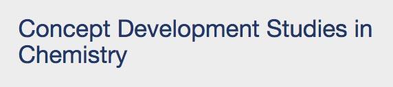 Title screen shot of Concept Development Studies in Chemistry