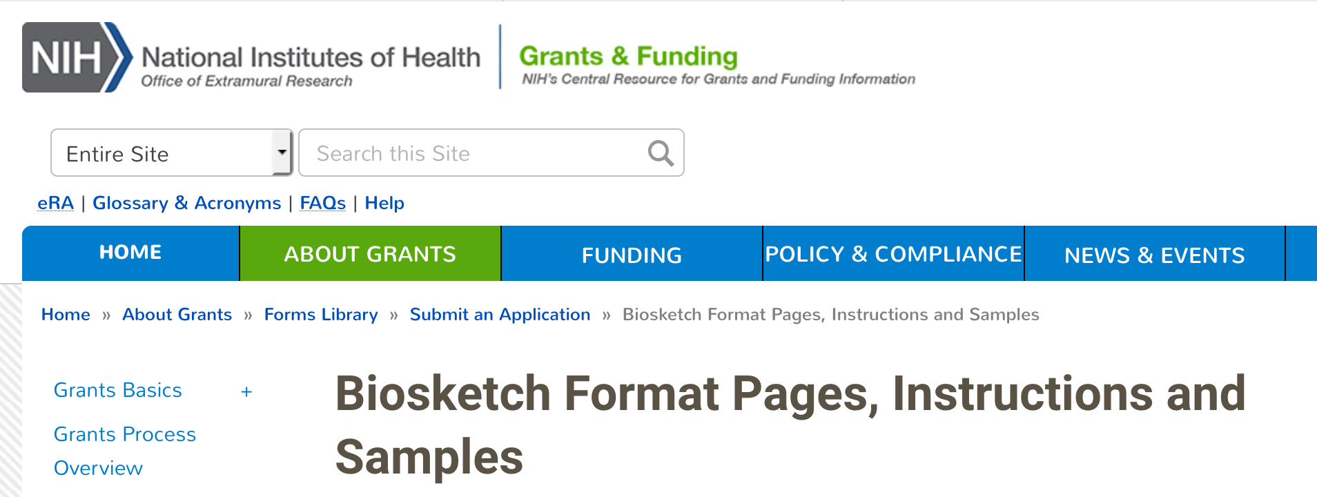 Home - NIH Biosketch - LSHSL at Louis Stokes Health Sciences Library