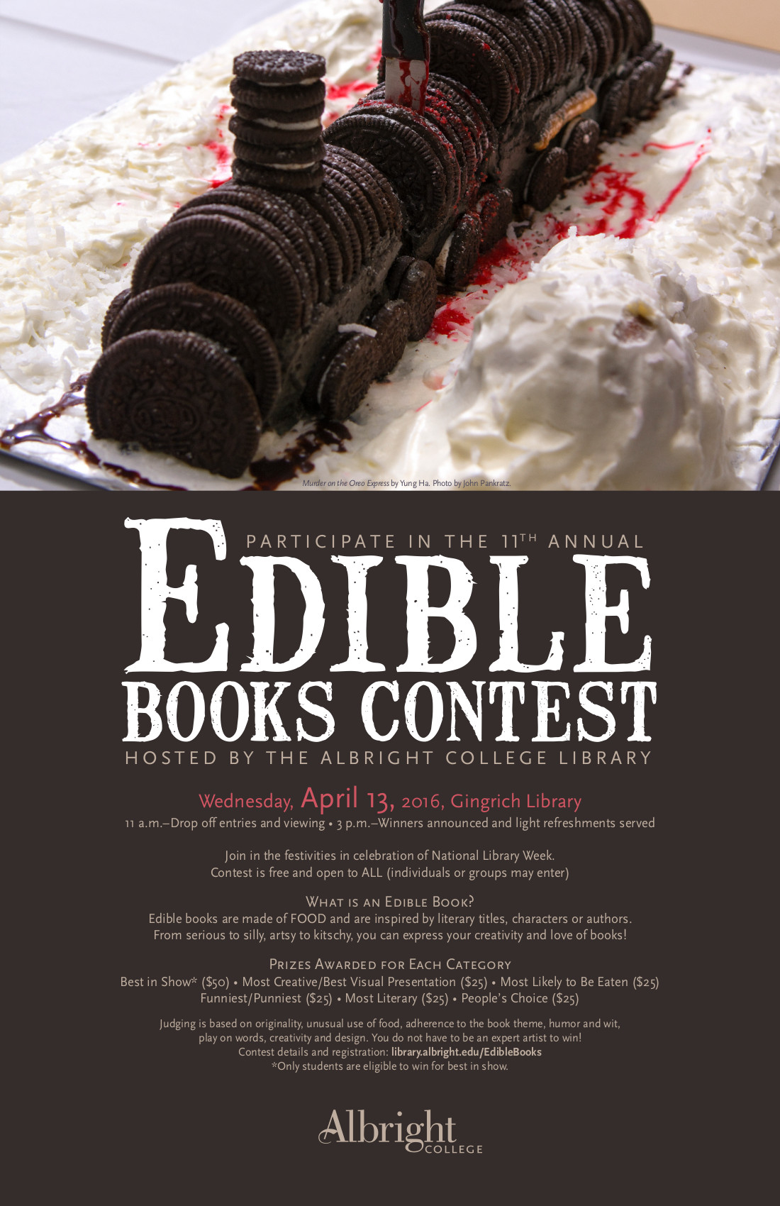 2016 Edible Books Edible Books Lion At Albright College