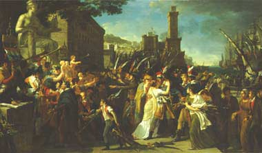 tennis court oath painting analysis