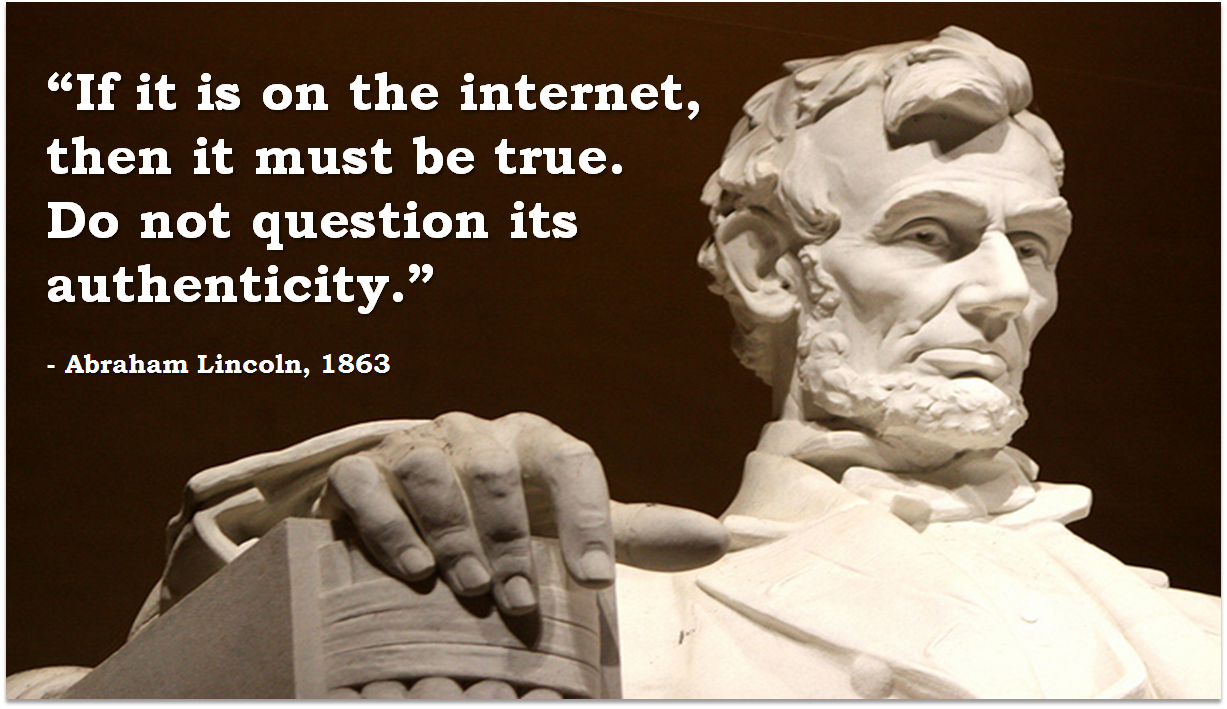 Abe Lincoln, Internet