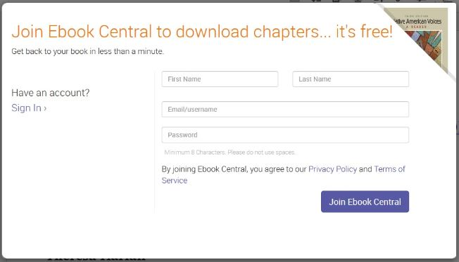 Ebook Central Access - Access an E-book in ProQuest's 'Ebook Central