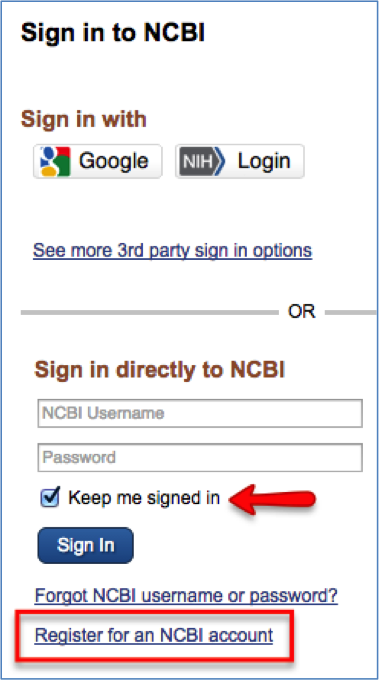 Pubmeds my ncbi creating saved searches auto email alerts ncbi sign in screen stopboris Image collections