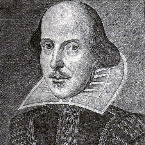 Black & White Drawing of Shakespeare's Head