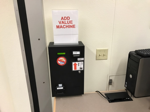 Picture of add-value machine