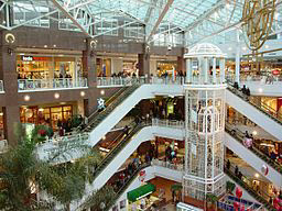 photo of internal view of a multi-floored shopping center