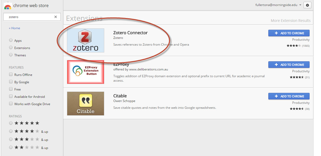 zotero connector
