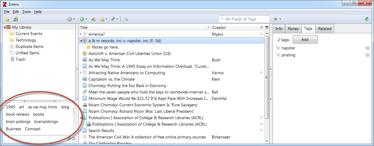 Zotero features zotero citation software libguides at you to simply click on the tag you want to see the citations for or you can search by tag using the search bar at the top of the zotero interface ccuart Image collections