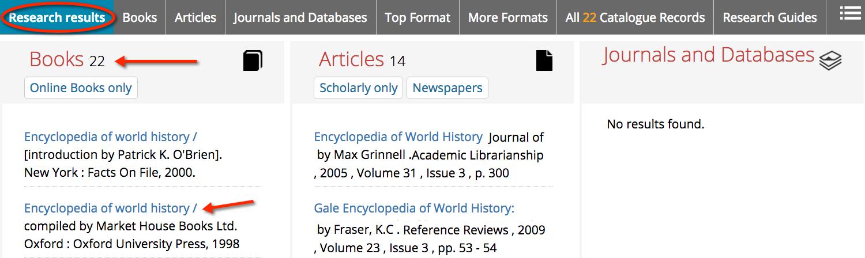Encyclopedias - IFP100: Themes...