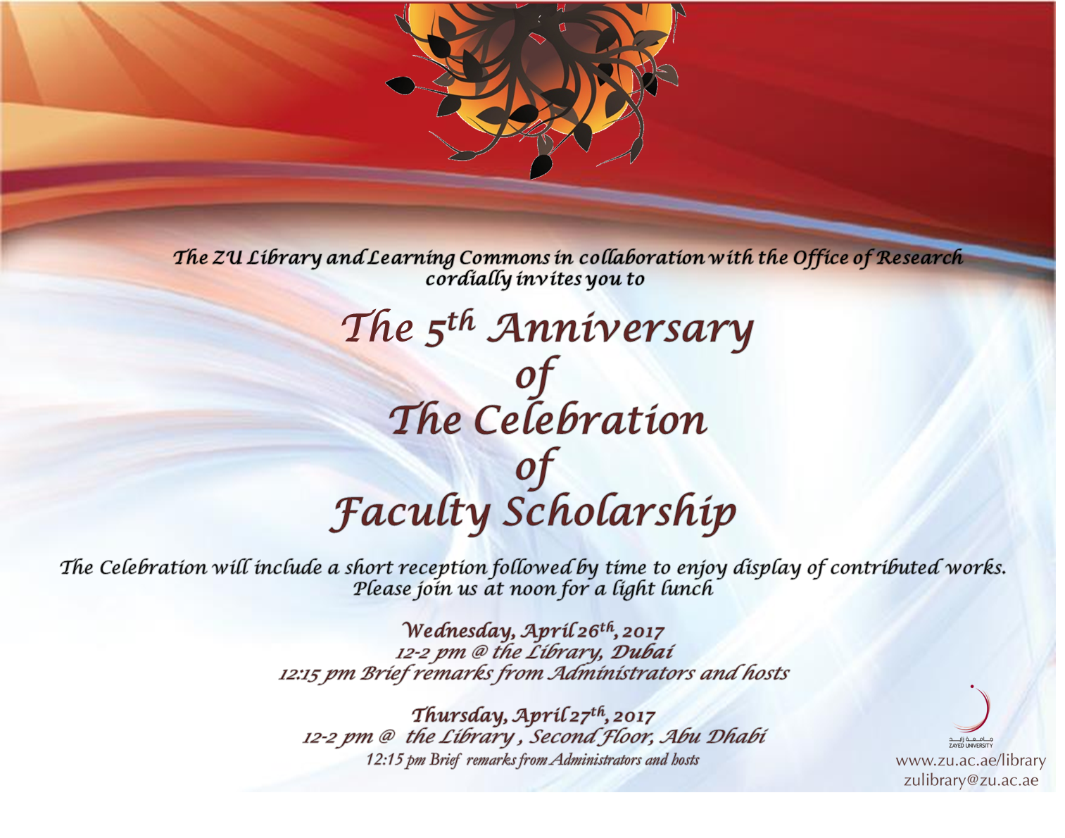 2017 Celebration of Faculty Scholarship - Faculty Scholarship ...