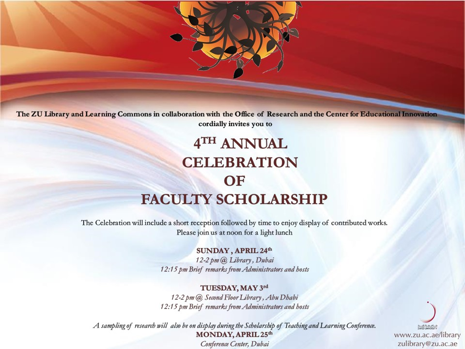 2016 Celebration of Faculty Scholarship - Faculty Scholarship ...