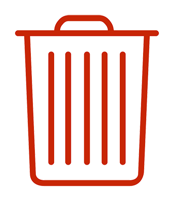 Rubbish bin icon
