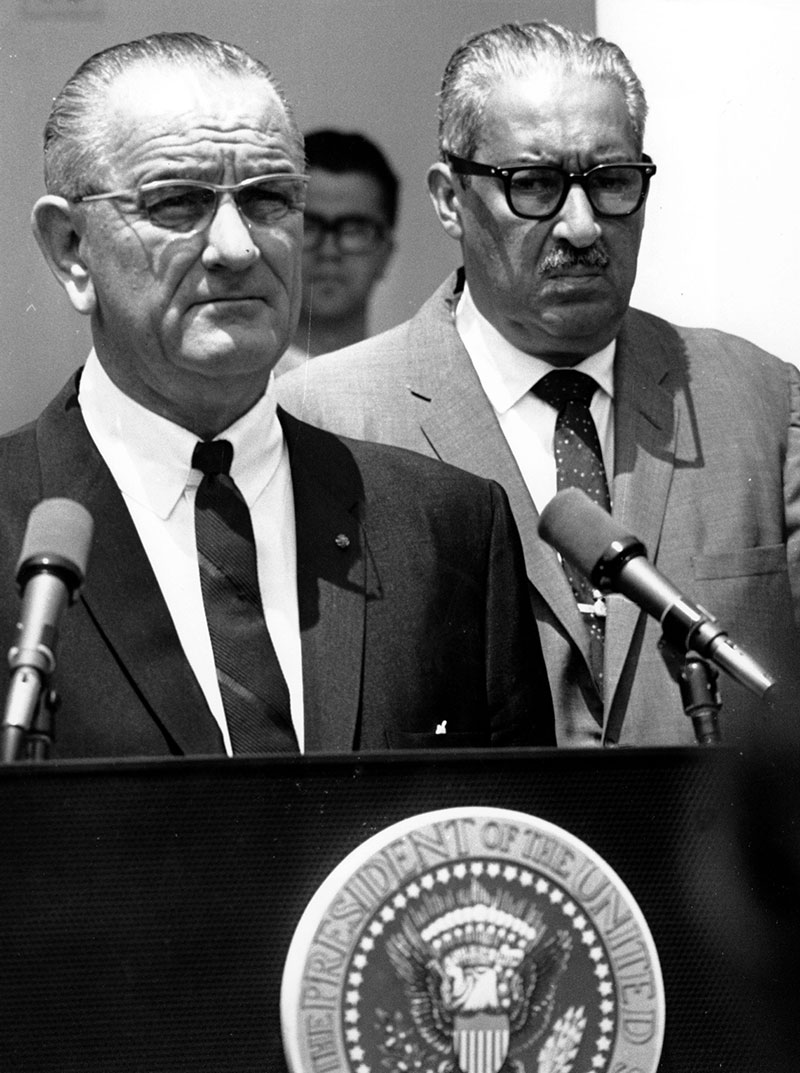 President Johnson nominating Thurgood Marshall as Supreme Court Justice