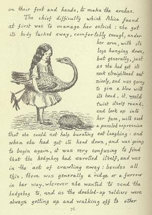 Alice's adventures underground, Carroll facsimile 1886 p. 76
