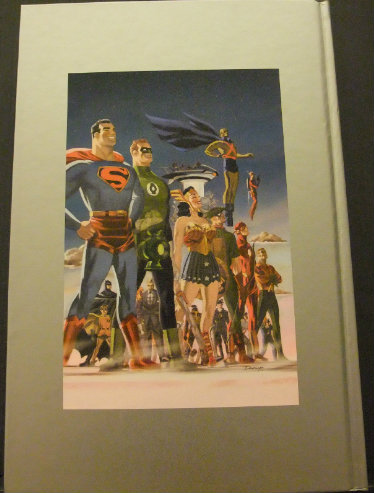 The back cover of DC Comics The New Frontiers