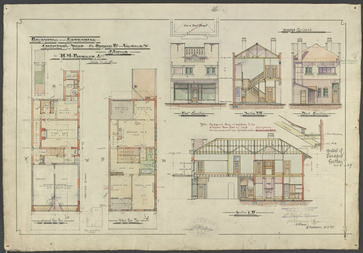 Architectural drawings researching buildings and houses for Free online architectural drawing program