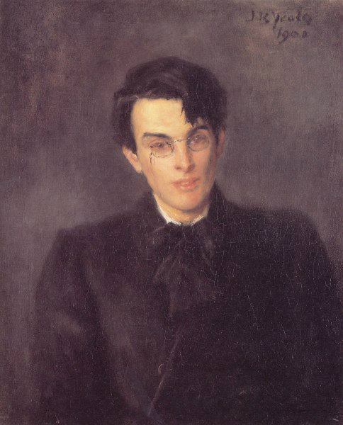 W.B. Yeats portrait 1900 by his father John