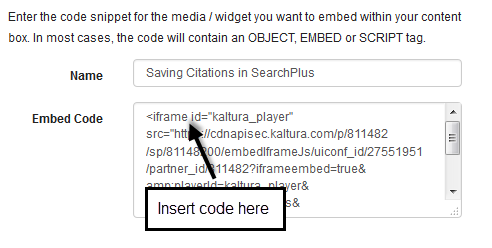 "location to embed title code, directly after the word ""iframe."""