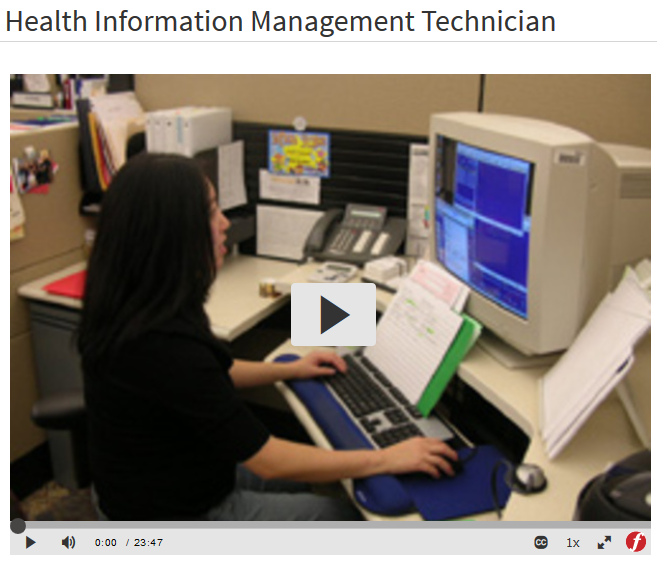 Films on Demand - Health Information Management Technician