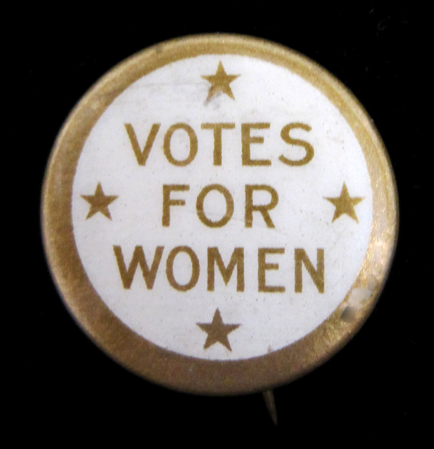 Votes for Women button, 1918.