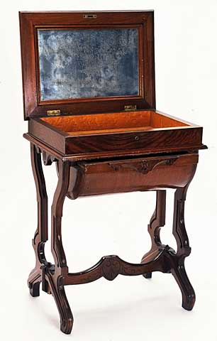 Harriet Bishop's sewing table, 1850.