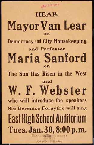 Hear Mayor Van Lear, 1917.