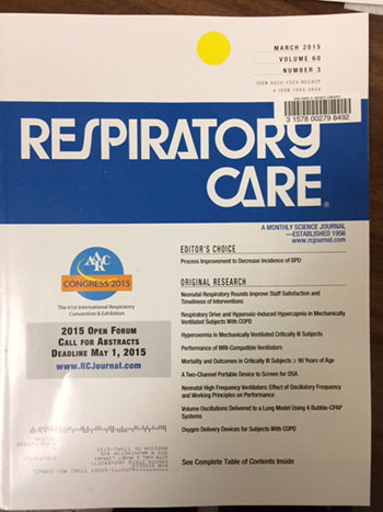 Respiratory Care - front cover image