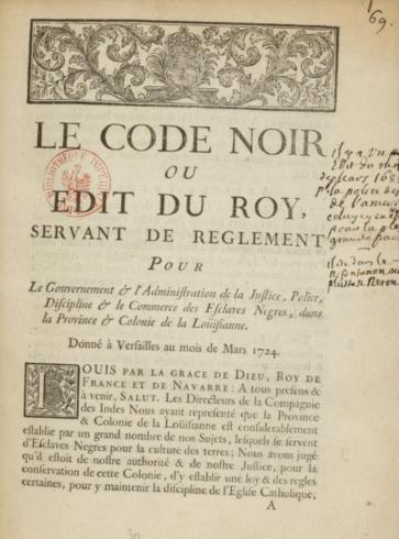 Black Code History Of The Codes Of Louisiana Libguides At Law