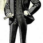 "Men's suit from ""The spring book of B. Kuppenheimer & Co."" 1900"