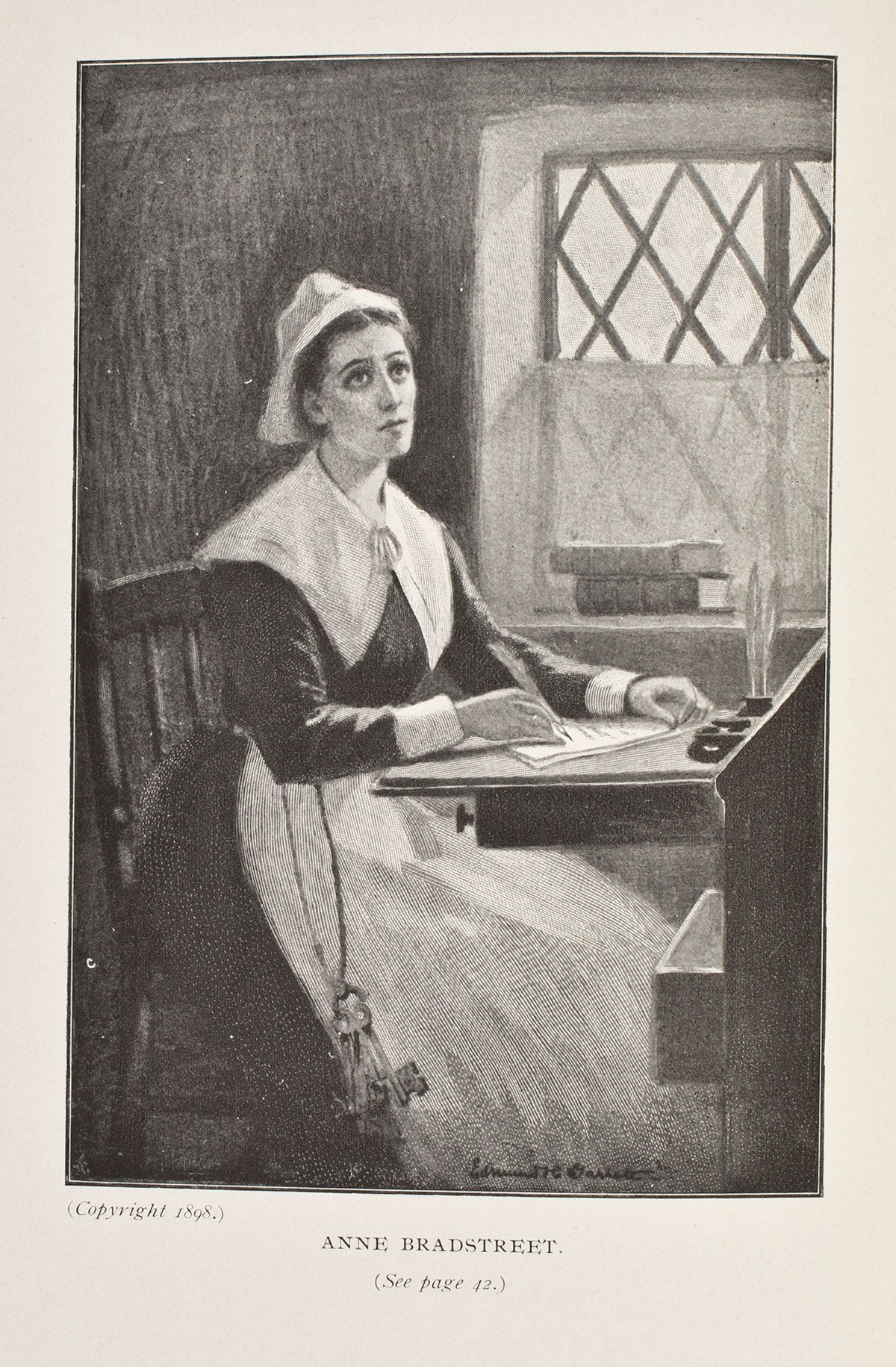 home engl seminar in american literature beginnings to  anne bradstreet portrait by edmund h garrett ca