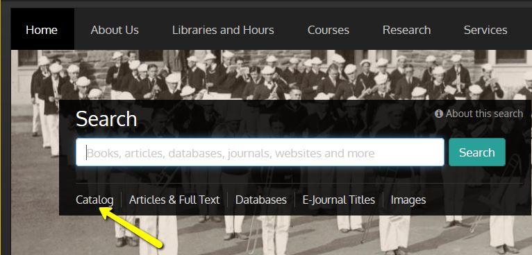 Screenshot of main Library page