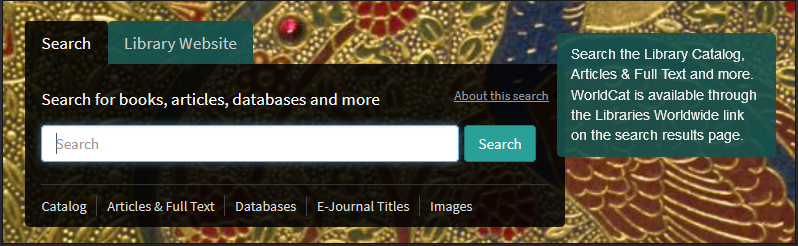 Image: Cornell University Library home page search box