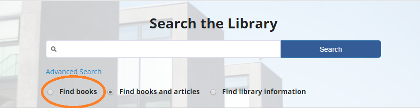Search the Library find books