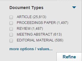 Peer reviewed literature databases