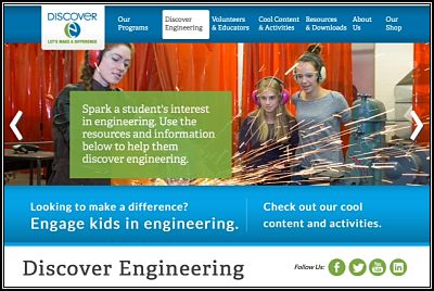 Discover Engineering website