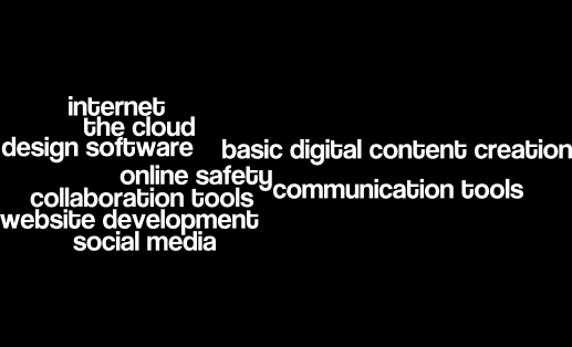 skills wanted: internet the cloud design software basic digital content creation