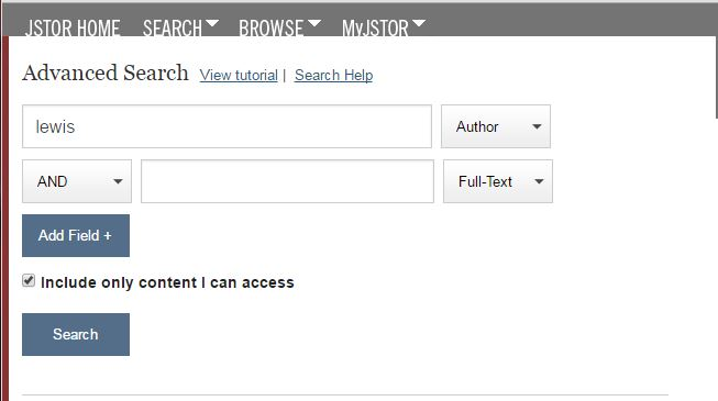 jstor author search