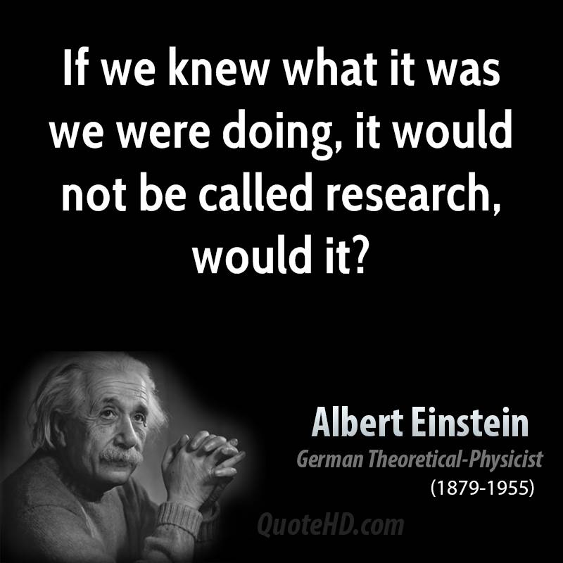 Albert Einstein research quote
