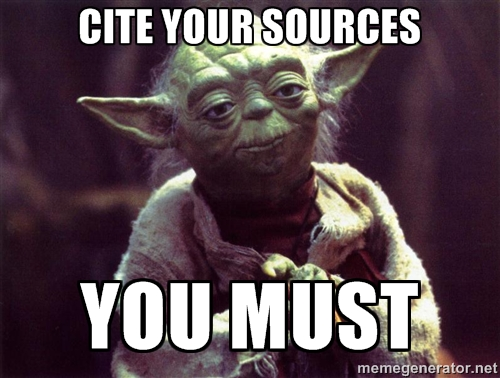 Click Yoda to learn how to cite your sources