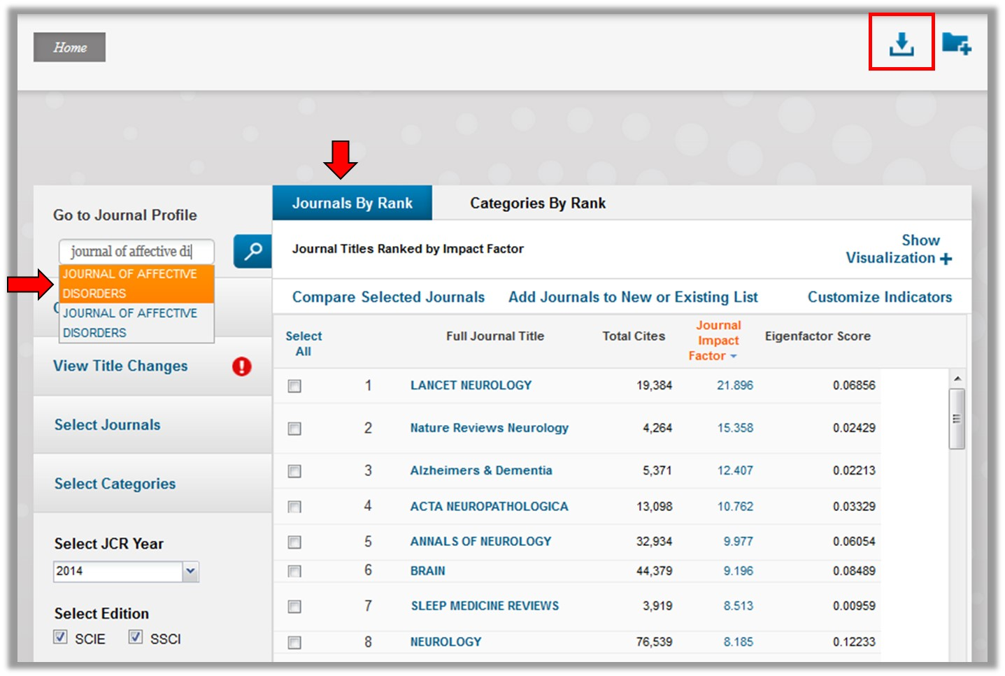 Journal Citation Reports - Impact Factors and Rankings
