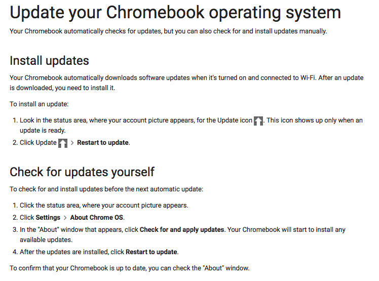 How do I update a Chromebook? - Answers