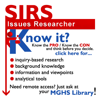 SIRS Researcher Pro/Con Database