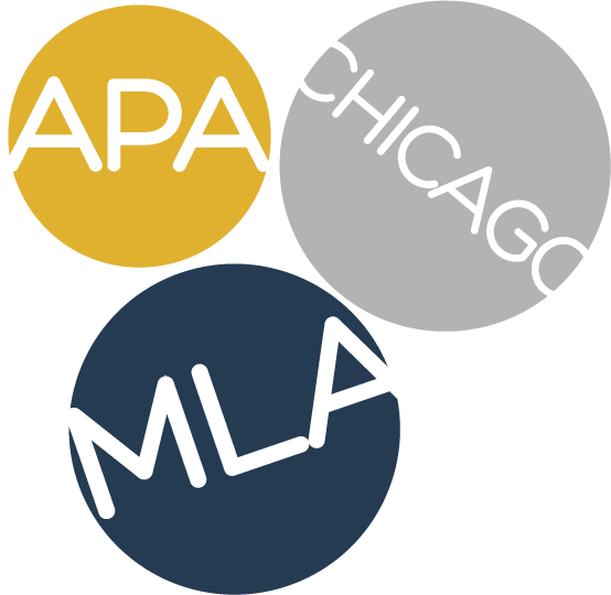 bubbles with APA, Chicago and MLA