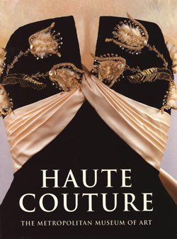 "Book cover featuring the top of a ladies gown. Title reads ""Haute Couture"""